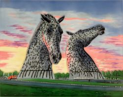 Kelpies at Dusk 11x14