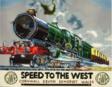 GWR Speed To The West 11x14