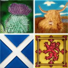Scotland 4x4 Coaster Set