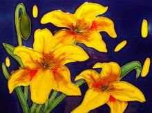 Yellow Hemerocallis 8x12