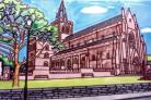 Kirkwall Cathedral 8 x 12