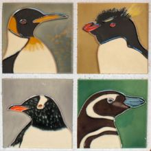 Penguin 4x4 coaster set