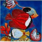 Red Tropical Fish 12x12