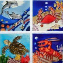 Sea Life 4x4 Coaster Set