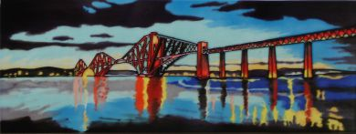 SS70 Forth Rail Bridge 6x16 picture tile